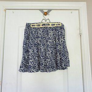 H&M Black and White Speckled Mini Skirt